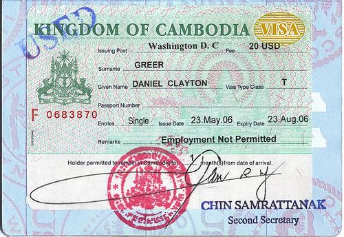 Thủ tục làm visa campuchia cho người nước ngoài
