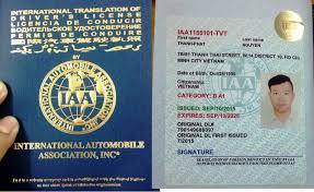Địa chỉ đổi bằng lái xe quốc tế nhanh nhất hiện nay