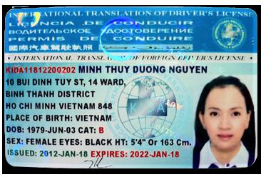 Thận trọng với dịch vụ đổi bằng lái xe quốc tế