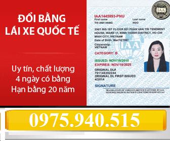 Đổi bằng lái xe Nhật Bản sang Việt Nam
