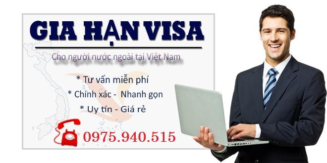 Thủ tục xin gia hạn visa loại 1 năm nhiều lần 2019