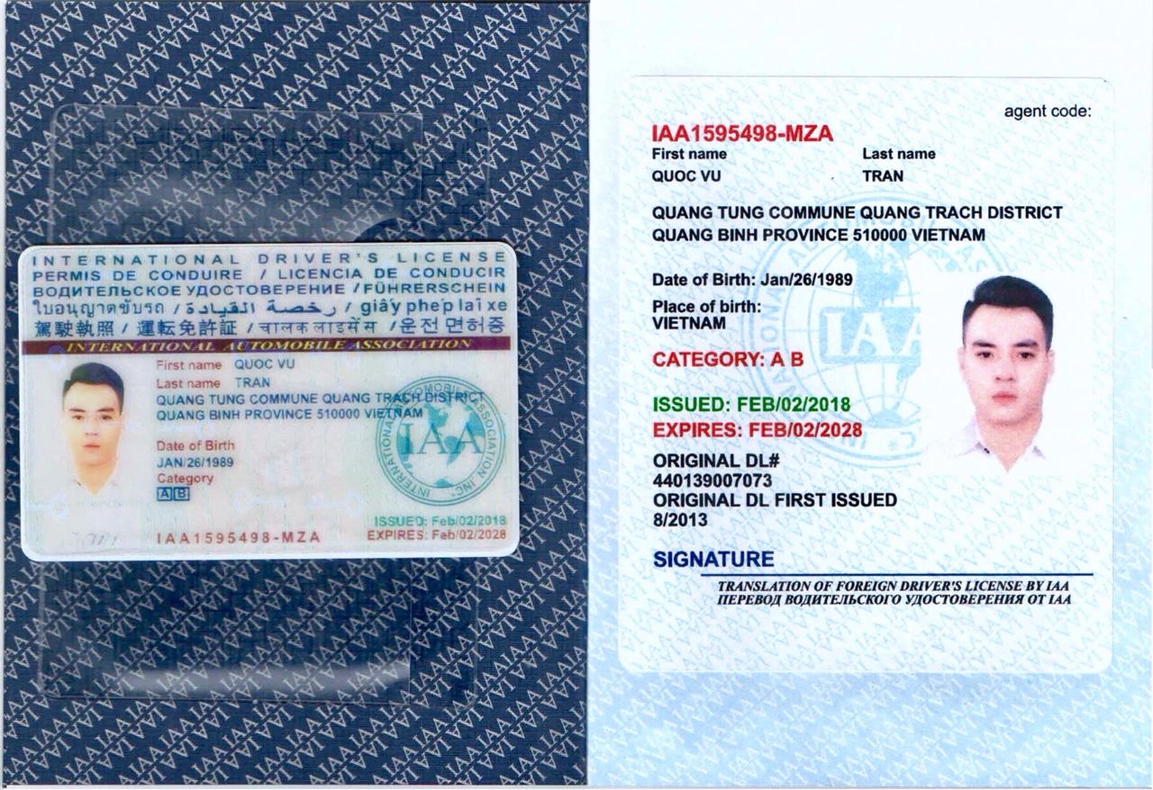 mẫu bằng IAA Mỹ Cấp.