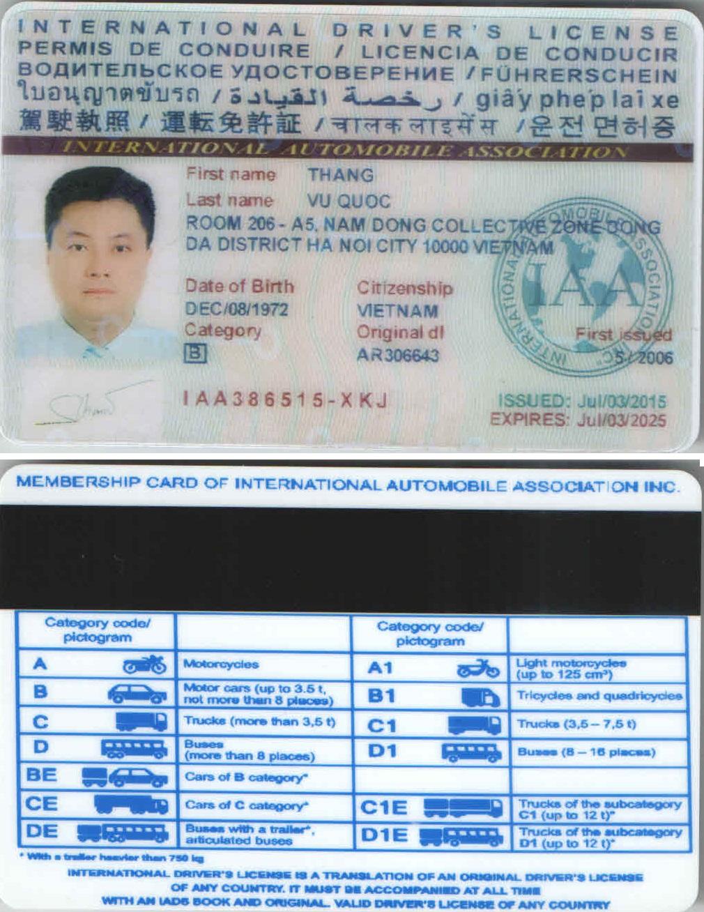 Thủ tục và điều kiện đổi bằng lái xe Việt Nam sang quốc tế