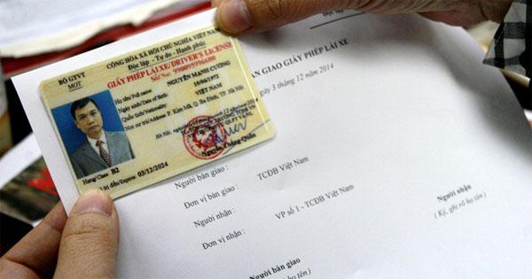 Thủ tục xin cấp lại giấy phép lái xe bị mất