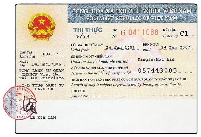 Xin visa Việt Nam cho người Congo