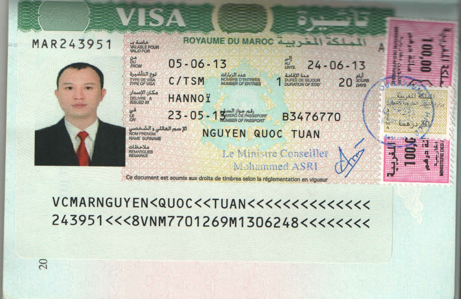 Hồ sơ xin Visa Maroc dành cho người đi tự túc