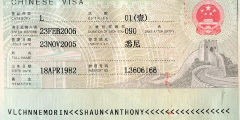 Thủ tục làm visa đi Trung Quốc công tác