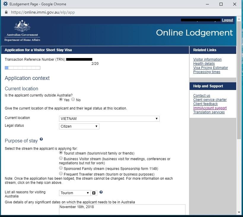 Hướng dẫn xin visa ÚC online