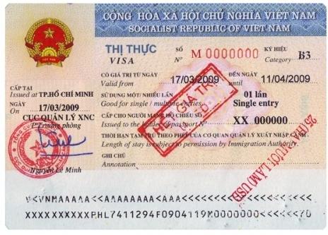 Thay đổi ký hiệu visa thị thực Việt Nam từ năm 2015